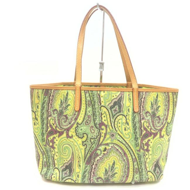 Item - Bag Paisley 862365 Green Coated Canvas Tote