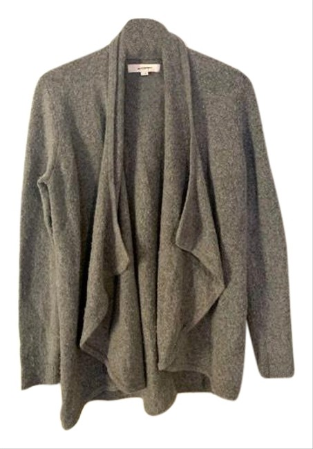 Item - Grey Wool Blend Open Front Lounge Cardigan Size 4 (S)