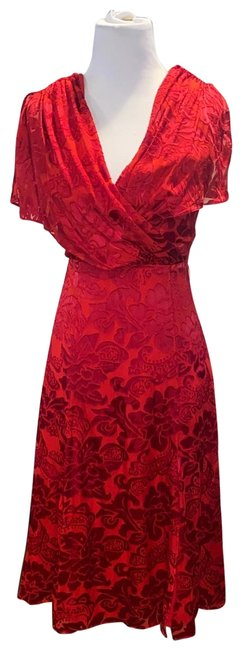 Item - Red And Belted Short Casual Dress Size 0 (XS)