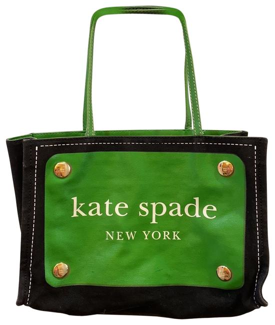 Item - Bag Black Green and White Canvas Tote
