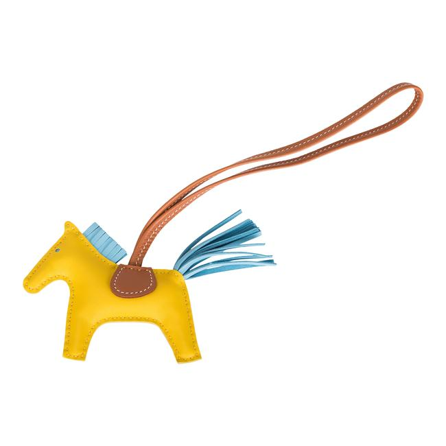 Item - Yellow Jaune De Naples/Celeste/Gold Grigri Horse Rodeo Bag Charm Pm