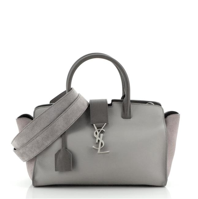 Item - Monogram Cabas Downtown With Baby Gray Suede Leather Satchel