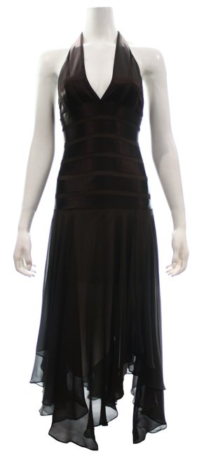 Item - Brown Halter Top Long Cocktail Dress Size 0 (XS)