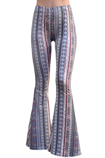Item - Indigo High Waist Comfy Yoga Ethnic Tribal Stretch 70s Bell Pants Size 20 (Plus 1x)