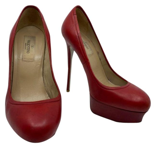 Item - Red High Heels Msrp Made In Italy Pumps Size EU 37 (Approx. US 7) Regular (M, B)