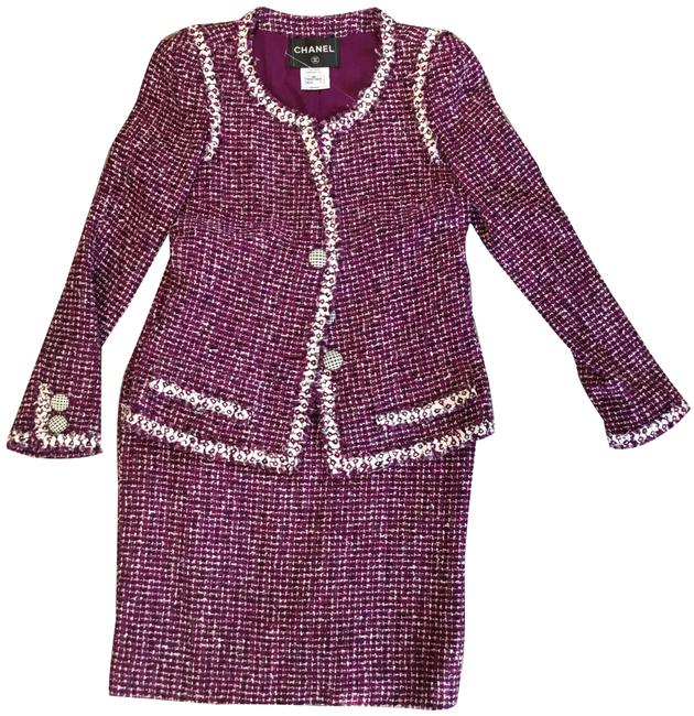 Item - Purple Jacket and 2-piece Set Skirt Suit Size 2 (XS)
