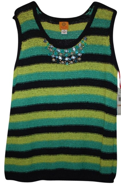 Preload https://item1.tradesy.com/images/ruby-rd-greenblackteal-loose-knit-sweaterpullover-size-22-plus-2x-2839270-0-0.jpg?width=400&height=650