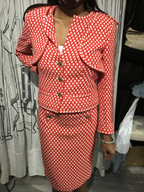 Item - Red/White Red/White 2-piece Vintage Skirt Suit Size 4 (S)