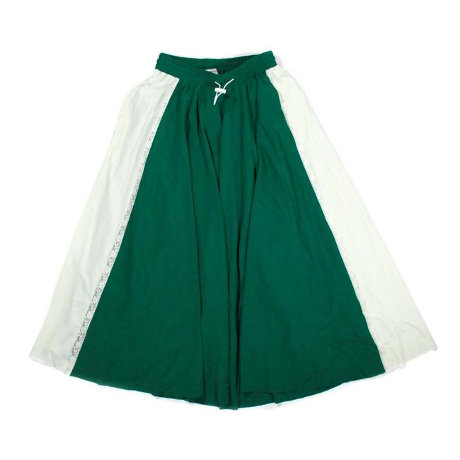 Item - Green - Ivory 2018 Track Skirt Long White Flare Us Small S Pants Size 4 (S, 27)