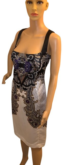 Item - Multicolor Floral Print Mid-length Night Out Dress Size 12 (L)