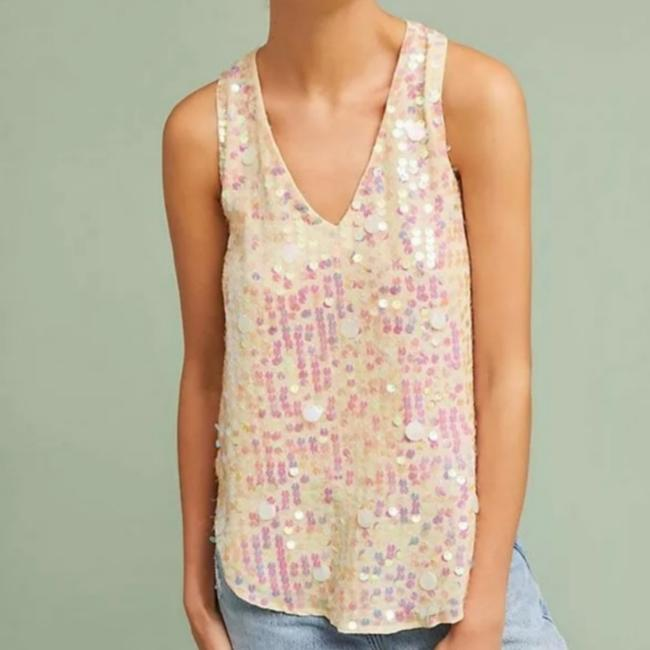Item - Champagne Sequin Tank Top/Cami Size 2 (XS)