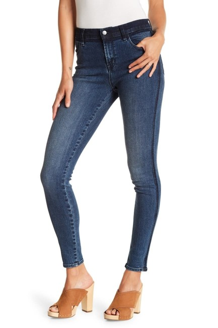 Item - Blue Navy Ruby Cropped High-rise Point Blank Straight Leg Jeans Size 25 (2, XS)