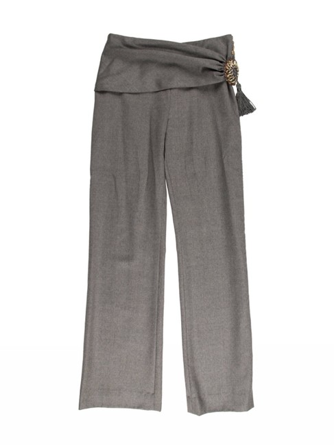 Item - Grey High-rise Embellished Pants Size 4 (S, 27)