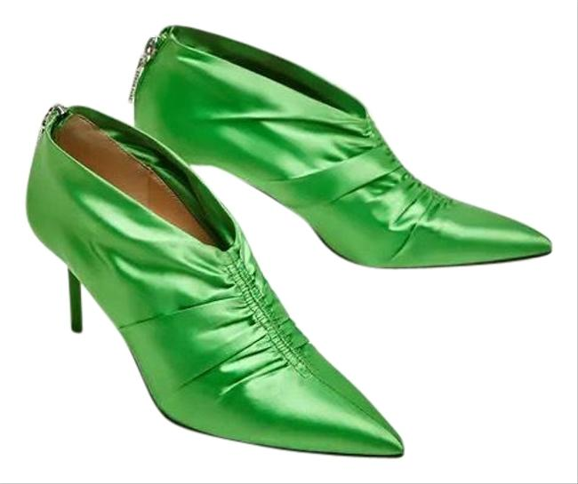 Item - Green W High Heel Ankle W/ Gathered Detail 6/36 New Boots/Booties Size US 6 Regular (M, B)