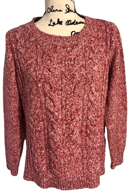 Item - Marbled Hi-low Red Sweater