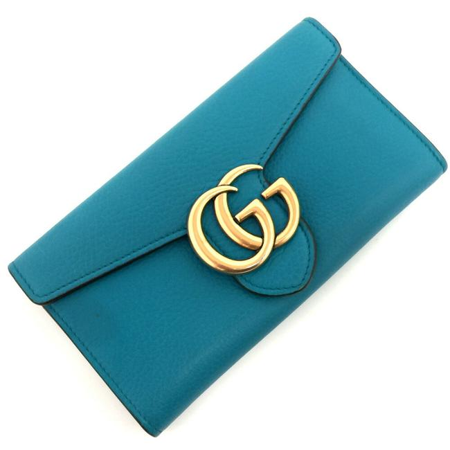 Item - Blue Long Marmont Gg 400586 Leather Ladies Wallet