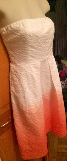 J.Crew short dress White and Pink on Tradesy