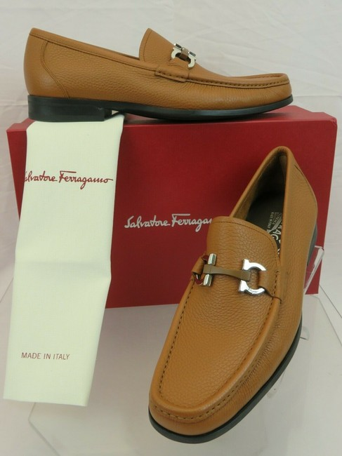 Item - Brown Grandioso Leather Gancini Bit Loafers 9 D Italy Shoes