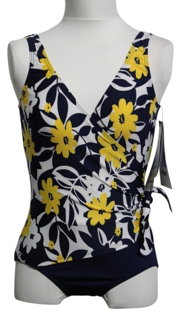 Preload https://item3.tradesy.com/images/navy-yellow-white-new-with-tags-misses-one-piece-swimsuit-one-piece-bathing-suit-size-10-m-2839642-0-0.jpg?width=400&height=650
