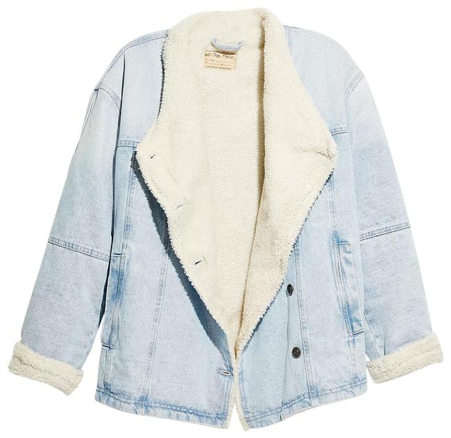 Item - Blue New Twisted Heart Cozy Jacket Size 8 (M)