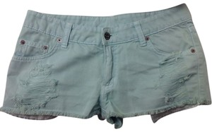 Car Mar Denim Shorts-Distressed