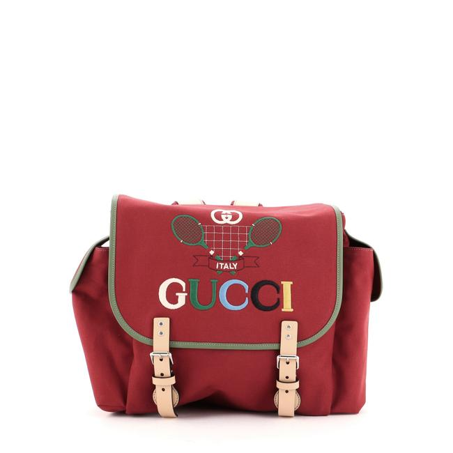 Item - Children's Embroidered Red Canvas Backpack