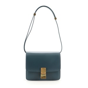 Item - Classic Box Small Blue Smooth Leather Shoulder Bag