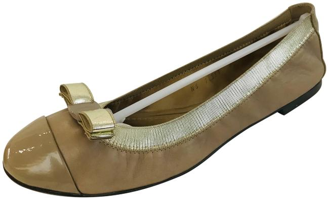 Item - Taupe My Joy Leather Foldaway Ballet Flats Size US 6.5 Wide (C, D)