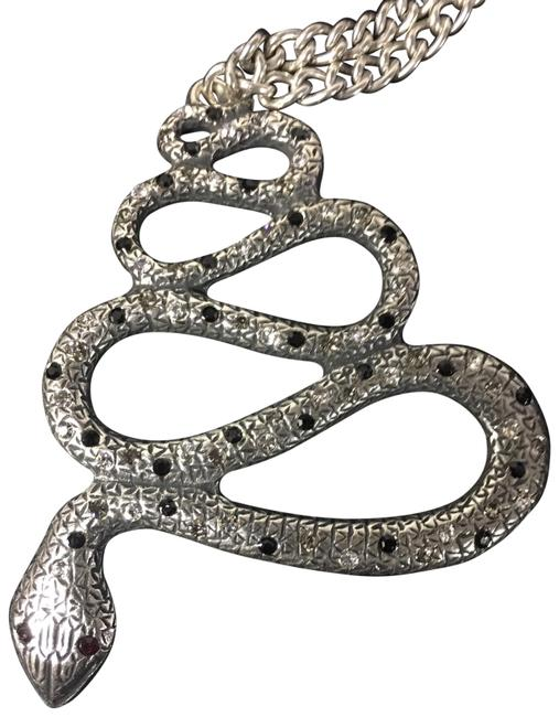 Item - Silver Snake Pendant Chain Necklace
