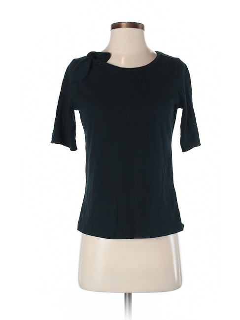 Item - Charcoal Gray ¾ Sleeve Bow Crew Neck Tee Shirt Size 4 (S)
