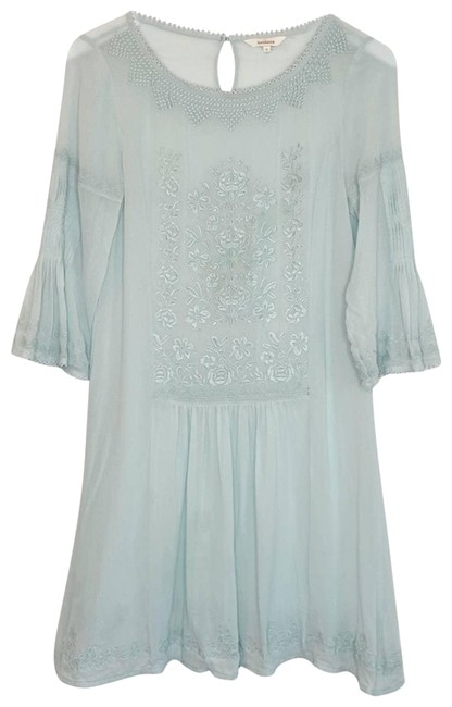 Item - Green Floral Embroidered Eyelet Lace Shift Night Out Dress Size 4 (S)