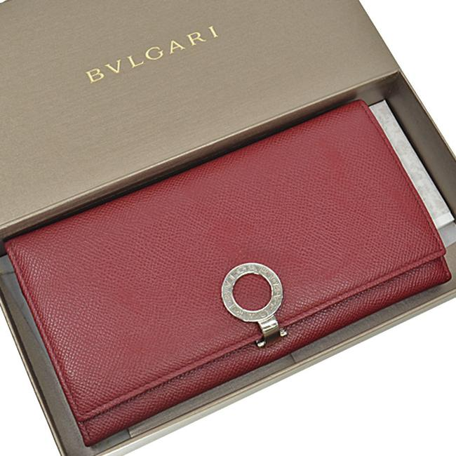 Item - Red Color / Silver Folded Leather Ladies Wallet