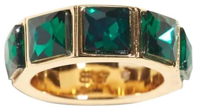 Item - Green Emerald Gemstone Band Ring