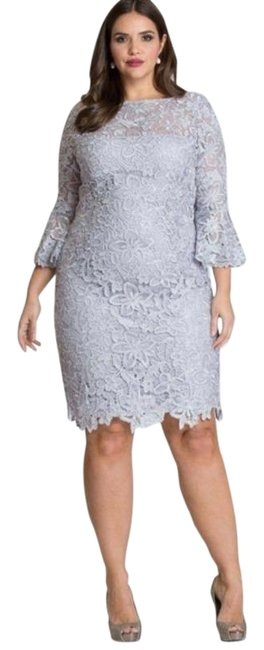 Item - Silver Mother Of The Bride Short Cocktail Dress Size 20 (Plus 1x)