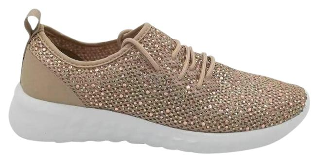 Item - Metallic Womens Ellie Gold Low Top Lace Up Sneakers Size US 7 Regular (M, B)