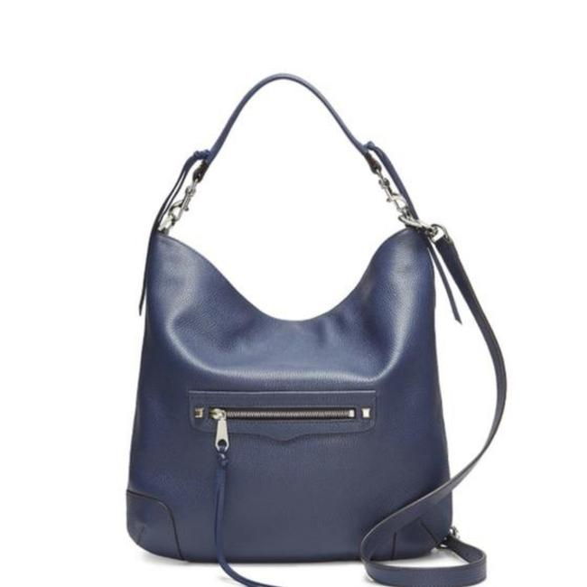 Item - Slim Regan Blue Cowhide Leather Hobo Bag