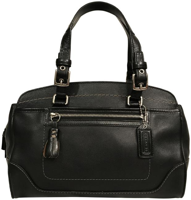 Item - Carry All Doctors Hampton 7465 Black Silver Leather Satchel