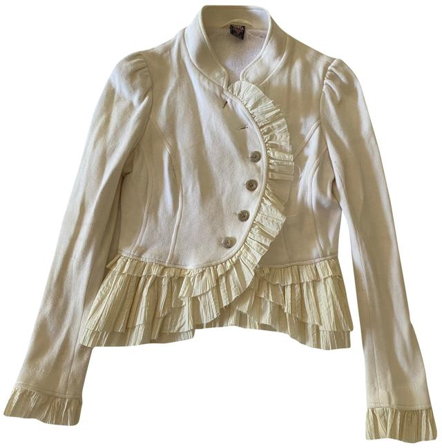 Item - Cream Ruffle Jacket Size 4 (S)