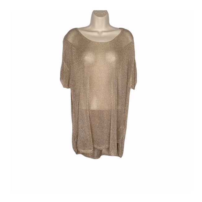 Item - Gold Metallic Mesh Tunic Size 20 (Plus 1x)