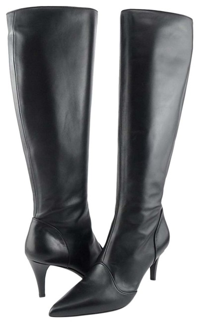 Item - Black Tecla Knee High Pointed Boots/Booties Size US 9.5 Regular (M, B)