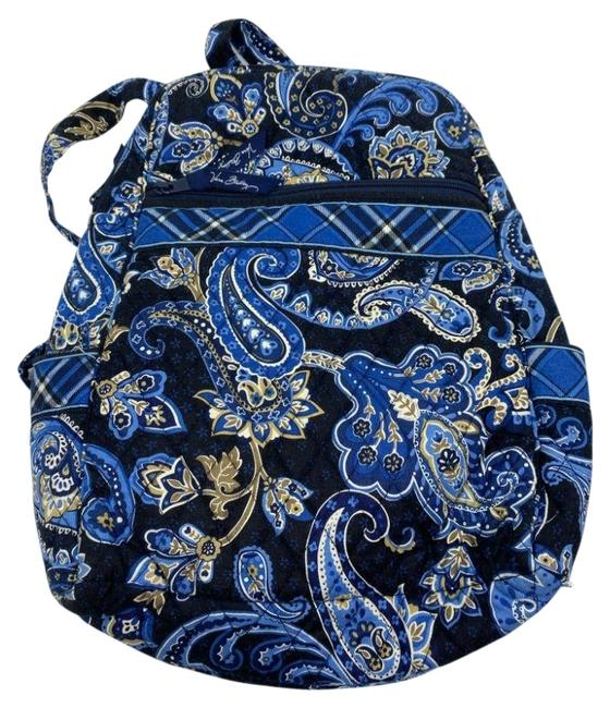 Item - Quilted Blue Beige Backpack