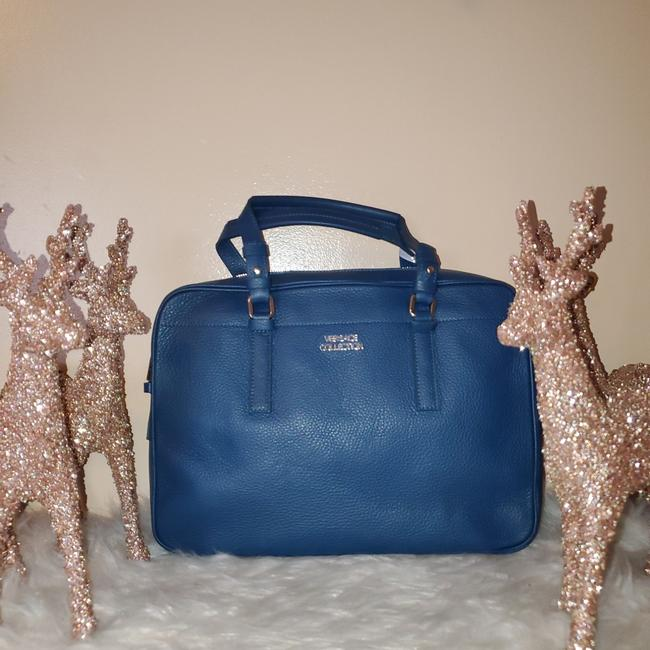 Item - Two Way Blue Leather Tote