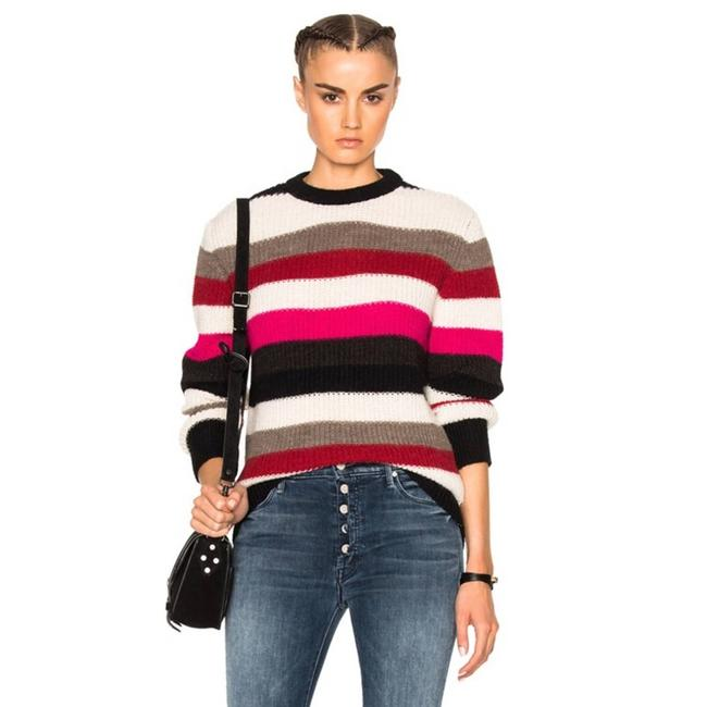 Item - Solal Ribbed Striped Small Pink Sweater