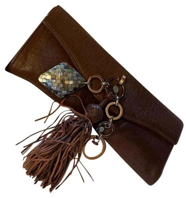 Item - Camille Brown Leather Clutch