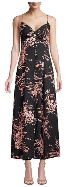 Joie Caviar (Black / Salmon) Long Casual Maxi Dress Size 0 (XS) Joie Caviar (Black / Salmon) Long Casual Maxi Dress Size 0 (XS) Image 1