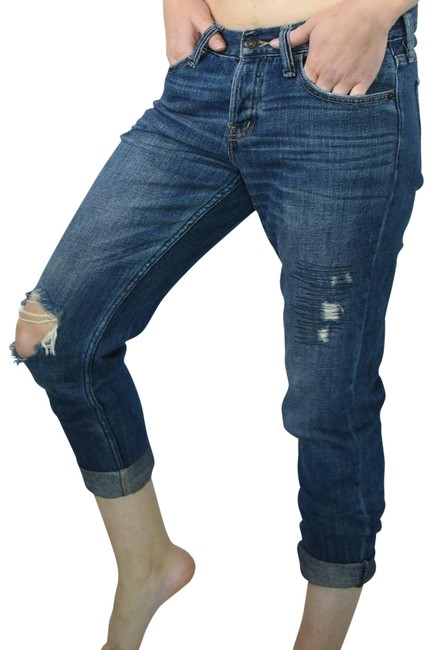 Item - Blue A&f 1982 Collection Boyfriend Capri/Cropped Jeans Size 28 (4, S)