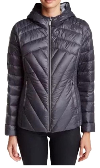 Item - Gray Quilted Packable Duck Puffer Jacket Coat Size 2 (XS)