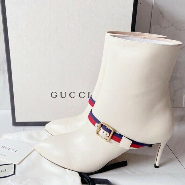 Item - White Sylvie Strap Ankle Pointed Toe Lace Leather Eu Boots/Booties Size US 11.5 Regular (M, B)