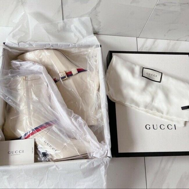 Gucci White Sylvie Strap Ankle Pointed Toe Lace Leather Eu Boots/Booties Size US 11.5 Regular (M, B) Gucci White Sylvie Strap Ankle Pointed Toe Lace Leather Eu Boots/Booties Size US 11.5 Regular (M, B) Image 9