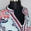 Charter Club Multicolor Aqua Blue Paisley Print Beaded & Sequined Tunic Size 20 (Plus 1x) Charter Club Multicolor Aqua Blue Paisley Print Beaded & Sequined Tunic Size 20 (Plus 1x) Image 3